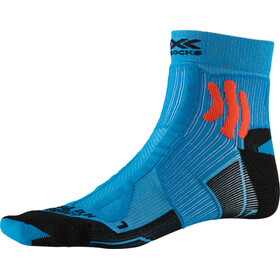 X-Socks Trail Run Energy Hardloopsokken Heren, teal blue/sunset orange